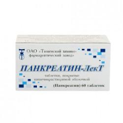 Панкреатин-ЛекТ, табл. п/о кишечнораств. №60
