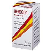 Немозол, сусп. д/приема внутрь 100 мг|5 мл 20 мл №1