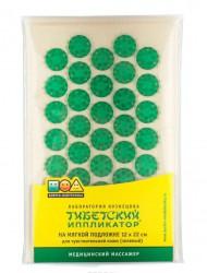 Иппликатор Кузнецова, р. 12смх22см тибетский малый коврик для чувствительной кожи на мягкой подложке зеленый