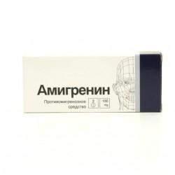 Амигренин, табл. п/о 0.1 г №2