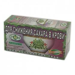 Фиточай, Сила российских трав ф/пак. 1.5 г №20 Стевия №19 Для снижения сахара в крови