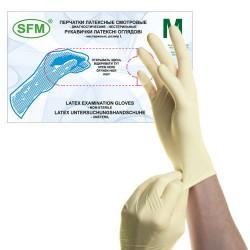 Перчатки нестерильные смотровые латексные , Сфм хоспитал р. M №50 пара